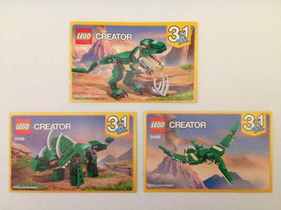 Mighty Dinosaurs 31058 booklets