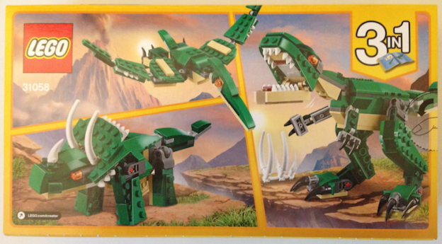 Mighty Dinosaurs 31058 box back