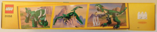 Mighty Dinosaurs 31058 box long side