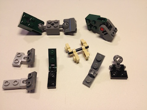 Mighty Dinosaurs 31058 hinge parts
