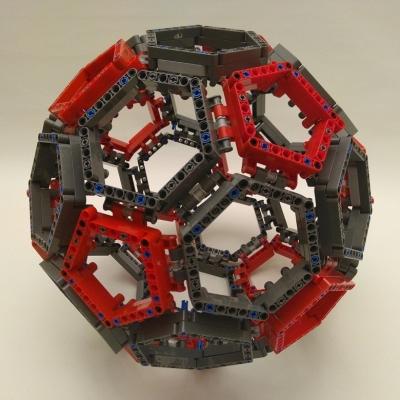 Truncated icosahedron made of Lego. November 2018