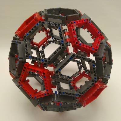 Truncated icosahedron made of Lego. November 2018
