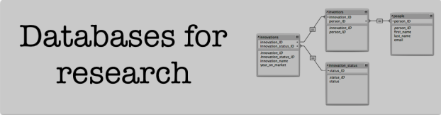 Databases for research header image