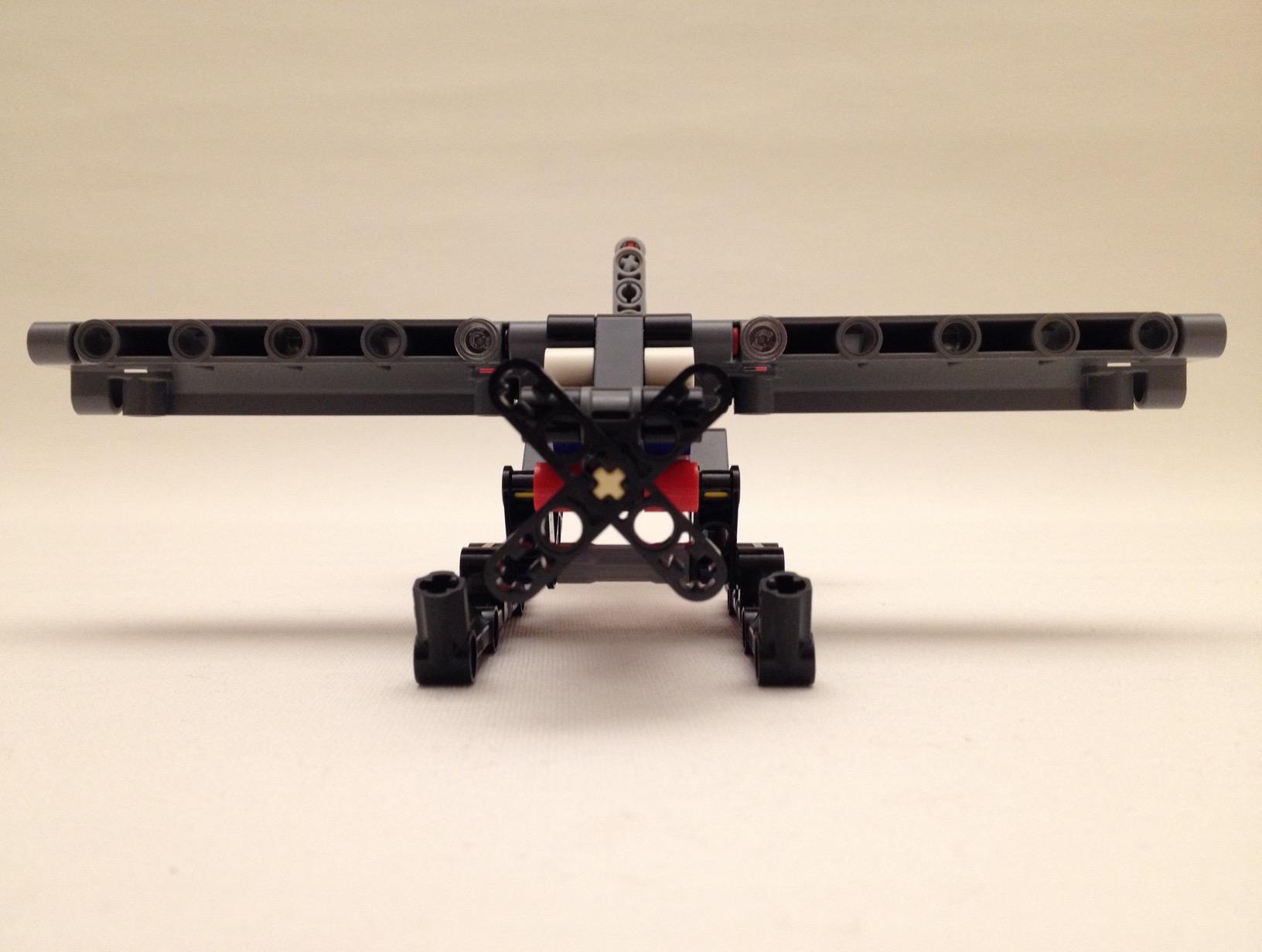 Lego floatplane, front view