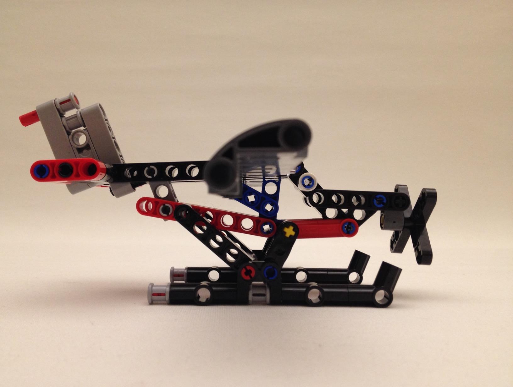 Lego floatplane, side view