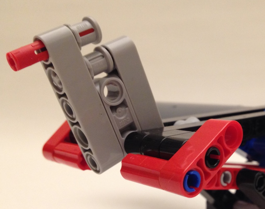 Lego floatplan, tail section detail